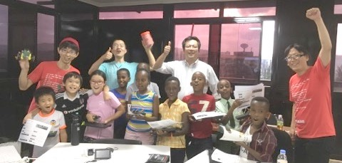 Kids are same anywhere! PCN's first IchigoJam Africa classroom held in Kigali Rwanda!