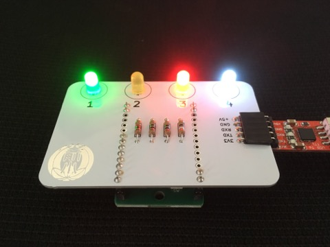 "Matsuda's Maehara No.1 ""4LEDs Board"" is now created! / 松田式 前原1号 ""4連Lチカボード"" 完成!"