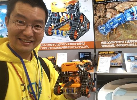 オレンジ色のカムロボ登場!?模型の世界首都「静岡」にて趣味の祭典「ホビーショー」開催中!