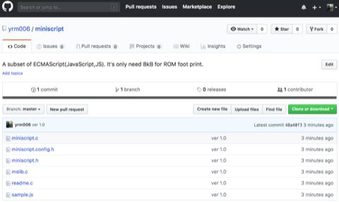 極小JavaScriptエンジン「MINIScript」、GitHubに登場!フットプリントはROM 8kB、RAM 1kB