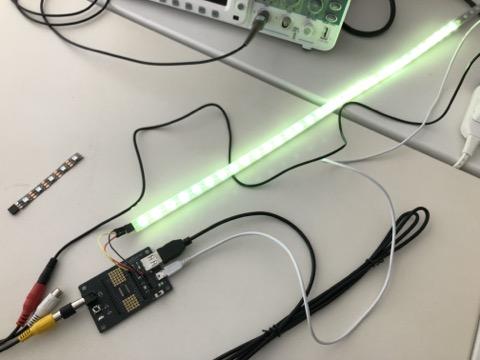"""エモい作品をJavaScriptでも!IchigoLatte用 WS2812B LEDテープドライバ """"emo-driver"""" 完成!"""
