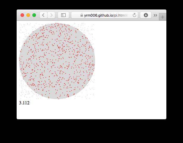 3/14はπの日!手軽に3.14にたどり着ける「モンテカルロ法」を流行りのJavaScriptで実装!