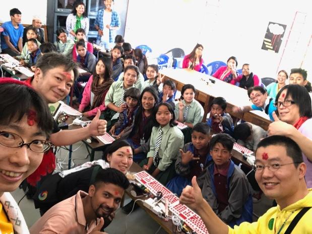 ネパール カトマンドゥ でも始まった PCN!現地学生に託したIchigoJamプログラミング!