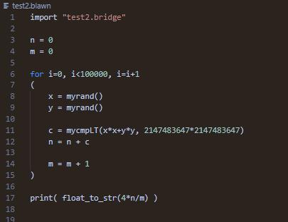 中学生が作ったプログラミング言語「Blawn」で π 計算!最新のC++を一歩進めたような仕様が超COOL!
