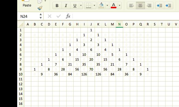 ICT機器は便利!Excelで「パスカルの三角形」を描いてみよう!