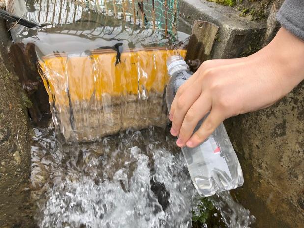 あなたの町には 何t/sec の水が流れていますか? 雪1tを融かすのに必要な水は10t。